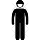 Flu Mask Cover Face Icon
