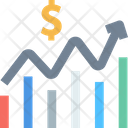 Growth Fluctuation Growth Graph Icon