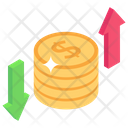 Fluctuation Dollar Fluctuation Financial Variation Icon