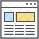 Fluid Grid Wireframe Icon