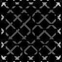 Fluid Grid Template Icon