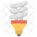 Energy Saver Light Bulb Fluorescent Bulb Icon