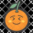 Flushed Orange Icon