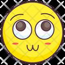Flushing Emoji Icon