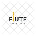 Flute Tag Flute Label Flute Logo Icon