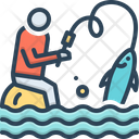 Flyfishing Catch Grip Icon