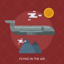 Flying Air Plane Icon