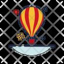 Flying balloon Icon
