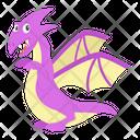 Flying Dinosaur Cartoon Icon