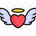 Flying Heart Heart Wings Love Wings Icon