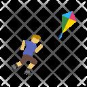 Flying kite Icon
