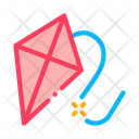 Flying Kite Air Icon