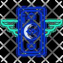 Flying Money Icon