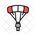 Flying Parachutist Color Icon