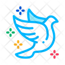 Flying Pigeon Bird Icon