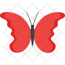 Flying Red Butterfly Icon