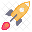 Flying Rocket Space Science Icon