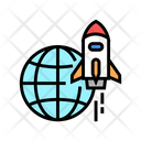Flying Rocket Rocket Fly Icon