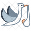 Flying Stork Bundle Icon