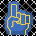 Foam Hand Gloves Fans Icon