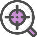 Focus Magnifying Glass Aim Icon