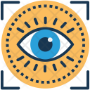 Optical Recognition Focus Icon