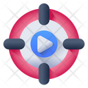 Movie Goal Video Goal Target Video Icon