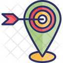 Focused Location Geo Targeting Geomarketing Icon
