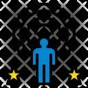 Focused man Icon