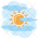 Foggy Day Sun Icon