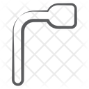 Foldable Lug Wrench Instrument Scraper Icon