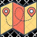 Folded Map Plicate Icon