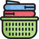Folded Clothes Garment Basket Icon