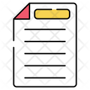 Folded Paper Document Doc Icon