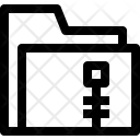 Folder Zip File Icon