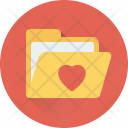 Love Folder Heart Icon