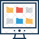 Folder Layout Monitor Icon