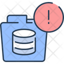 Folder Database Folder Alert Warning Icon