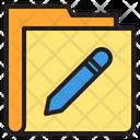 Pencil Write Folder Icon