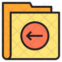 Left Arrow Folder Icon