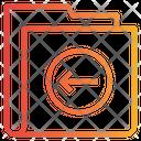 Left Arrow Folder Icon