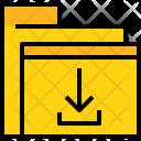 Folder Download File Icon