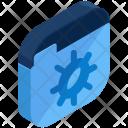 Folder Settings Isometric Icon
