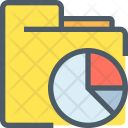 Data Folder Pie Chart Icon