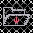 Folder Download Files Icon