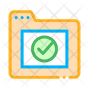 Computer Folder Approved Icon