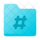 Hashtag Folder Icon
