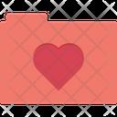 Folder Heart Romantic Songs Icon