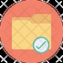 Folder Tick Data Storage Icon