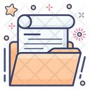 Folder Data Pocket Binder Icon
